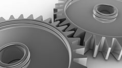 3D gears animation.  - stock footage