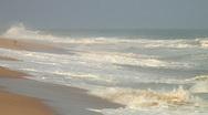 Africa: Stray dog wanders Togo beach Stock Footage