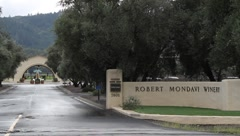 Robert Mondavi Winery Entrance - stock footage