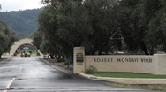Stock Video Footage of Robert Mondavi Winery Entrance