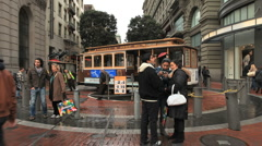 Time lapse of San Francisco Cable Cars - Clip 2 Stock Footage