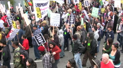 Anti-War protest in Los Angeles - stock footage