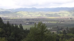 View of Napa Valley Stock Footage