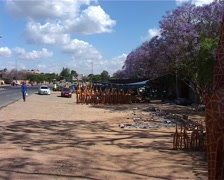 Hawkers on William Nicol, Johannesburg GFSD Stock Footage