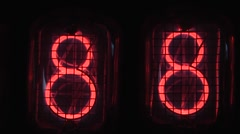 Digital display countdown discharge lamps Stock Footage