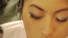 Eye liner - stock footage