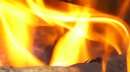 Stock Video Footage of 60p Fire Flames 1