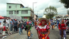 Sangolqui Carnival, 5th March 2011 Stock Footage