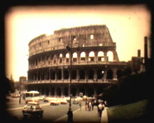 Retro cine - colloseum Rome Stock Footage
