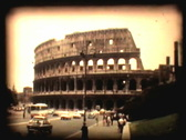 Stock Video Footage of Retro cine - colloseum Rome
