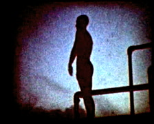 Retro cine - Diver - stock footage