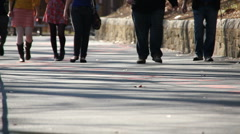 People walking casually. (1) Stock Footage