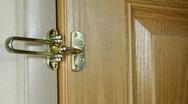 Man Locks Door Guard Stock Footage