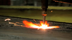 Torch cutting weld 1 Plasma Stock Footage