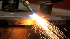 Torch Cutting Steel - stock footage