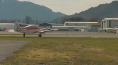 Small Canadian Airport in Chilliwack, British Columbia - stock footage