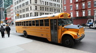 Schoolbus waiting Stock Footage