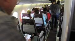 Passengers Boarding Plane 4 Stock Footage