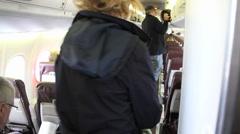 Passengers Boarding Plane 3 Stock Footage