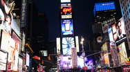 Stock Video Footage of Light ads at Times Square
