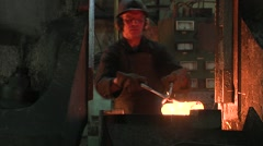 Forge shop - stock footage