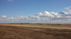 Wind Turbines with Clouds - stock footage