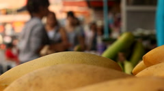 Mangoes in a Fruit Market in Thailand Stock Footage