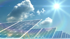 Solar panels  Stock Footage