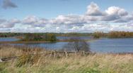 Autumn lake view Stock Footage