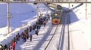 Arrival of the train 2 Stock Footage