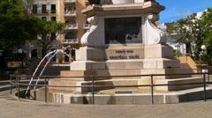 Puerto Rico - Christopher Columbus Plaza Statue - Old San Juan Stock Footage
