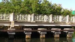 Puerto Rico - 60p Riverside  Walking Jogging Linear Park Stock Footage
