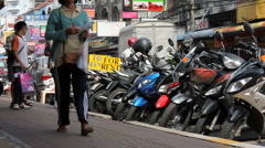 2nd Street in Pattaya, Thailand Stock Footage