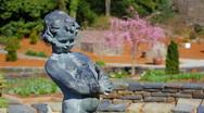 Duke gardens fountain Stock Footage