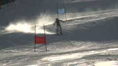 Super G Slalom racer 03 Stock Footage