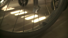 Parked wheelchair in house. Stock Footage