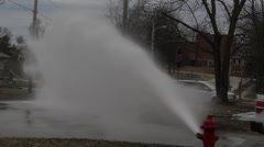 Fire Hydrant Spray, vehicle goes through water Stock Footage