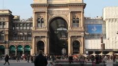 Galleria Vittorio Emanuele II, Milan Stock Footage