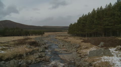 Scotish stream, Loch Muick Stock Footage