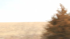 Country Drive #2 , hills, trees, fences - stock footage