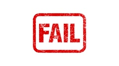 FAIL stamp Stock Footage