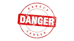 DANGER stamp - stock footage