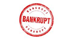 BANKRUPT stamp - stock footage