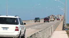 Urban scenic  fp fl close shot traffic seaway bridge 2 h264 - stock footage