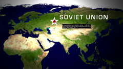 Khystym Soviet Union Nuclear Disaster 1957 2 in 1 Stock Footage