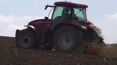 Tractor preparing a seedbed Stock Footage