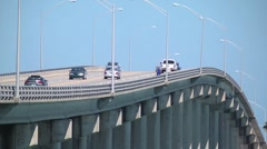 Urban scenic  fp fl traffic seaway bridge over the indian river 5 h264 Stock Footage