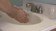 Handwashing 1 - 30p Stock Footage