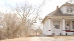 Drive through small farm town - Country  Stock Footage