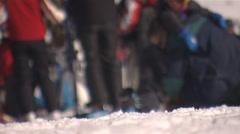 Ski boots Stock Footage